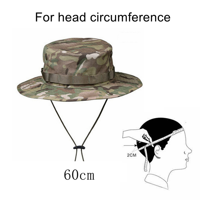 Military Tactical Cap Men Camouflage Boonie Hat Sun Protector Outdoor Paintball Airsoft Army Training Fishing Hunting Hiking Cap 5
