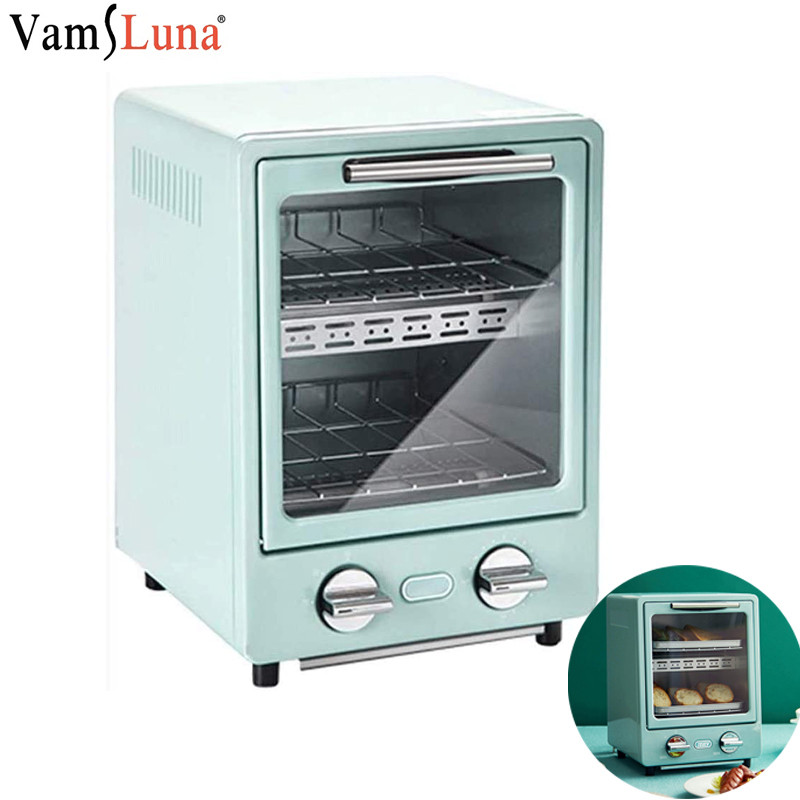 9L Double Layer Oven Vertical High Power 900W Large Capacity Baking Roaster Retro Electric Oven With Heat Resistant Glass
