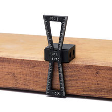 Dovetail Marker Aluminum Alloy Hand Cut Wood Joints Gauge Guide Tool with Scale Template 1:5 1:6 1:8 1:10