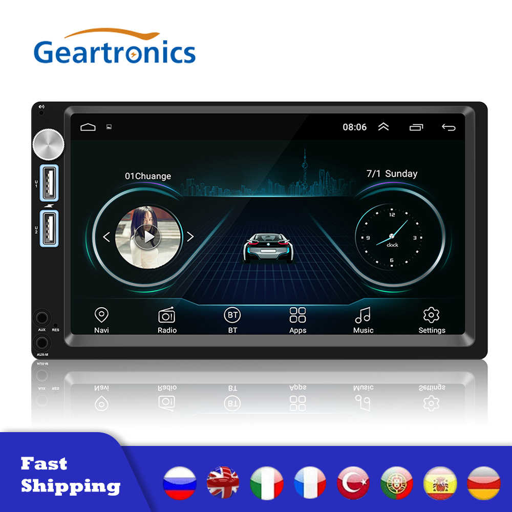 Autoradio Android 8.1 2 Din 7 Inch Gps Stereo Ontvanger Auto Stereo Audio Radio Para Coche Mirrorlink Wifi Achter camera MP5 Speler