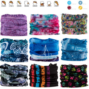 1401-1450 Magic Scarf Outdoor Sports Bicycle Headband Bike Cycling Bandana Neck Tube Warmer Bandanas Scraf Men Hiking Headband 1