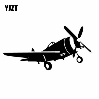 YJZT 17CM*8.5CM Dazzling Airplane Beautiful Aircraft Vinyl Decal High Quality Car Sticker Black/Silver C27-1170 image