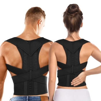 Aptoco Magnetic Therapy Posture Corrector Brace Shoulder Back Support Belt Braces & Supports Unisex
