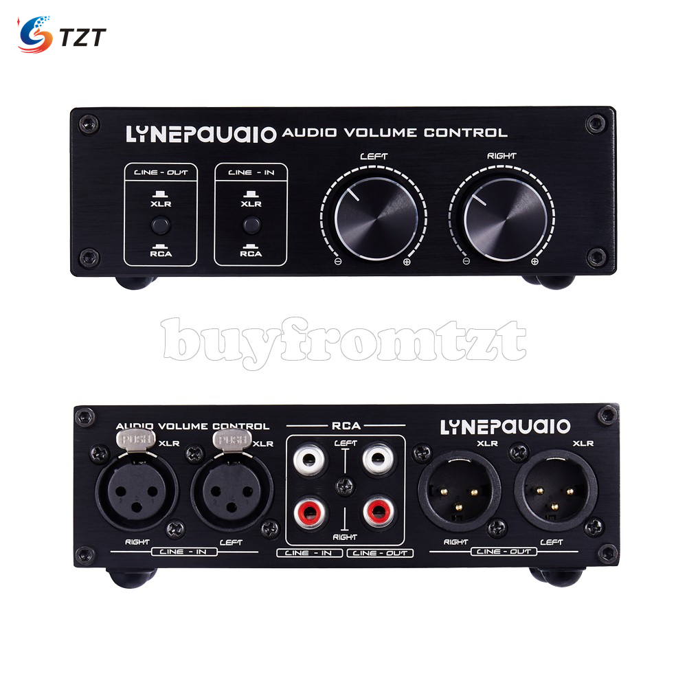 TZT Fully Balanced Passive Preamp Active Speaker Volume Control Two Input & Two Output A977