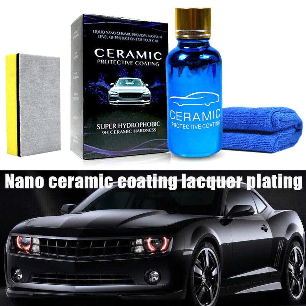 9H Car Oxidation Liquid Ceramic Coat Super Hydrophobic Glass Coating Set Polysiloxane And Nano Materials Anti-scratch Paint Care