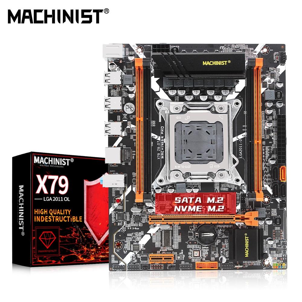 MACHINIST X79 Motherboard Combo LGA 2011 Support XEON E5 V1 V2 Processor DDR3 ECC or NON ECC RAM Memory M.2 NVME/NGFF X79 Z9-D7 1