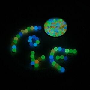 200 шт 6-12 мм светящиеся бусины для изготовления ювелирных изделий светится в темноте браслет из акрилового бисера ожерелье DIY женщины мужчин...