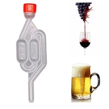 Пивной пузырьковый воздушный замок С Пылезащитным колпачком, выхлоп, один способ, для домашнего приготовления вина, ферментация, воздушный замок, пластиковый воздушный замок, обратный клапан