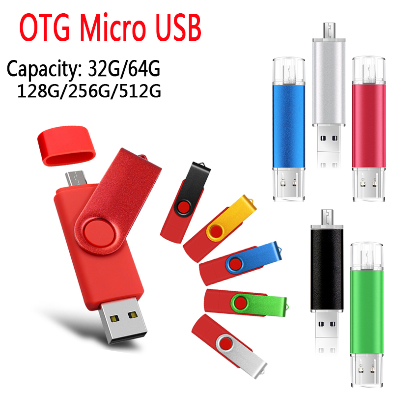 Bright Color Long High Speed Pendrive 32gb 64g Usb Flash Drive Memory Stick USb Stick OTG Micro 256g Pen Drive Car Key U Disk
