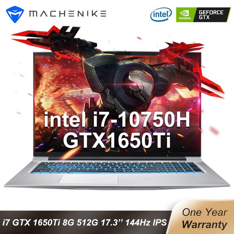 Machenike T90-Plus-TB1 60Hz/144hz Gmaing Laptop 2020 i7 10750H 17.3 GTX1650Ti 8G 512G SSD IPS 45%/72% NTSC Gaming Notebook