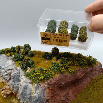 цена на 12/24/36Pcs Simulation Bush Tree Scene Model for 1:35/1:48/1:72/1:87 Scale Sand Table Model Building Kits