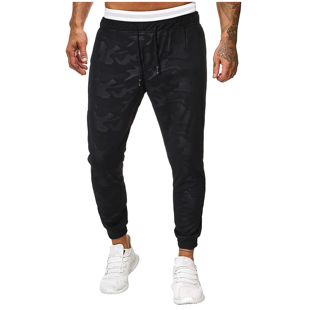 Men Joggers Sweatpants Men's JoggerTrouser Men Splicing Camouflage Overalls Casual Pocket Sport Work Casual Trouser Pants M-5XL