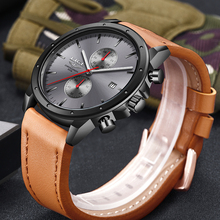 LIGE Men Watches Luxury Sports Quartz Leather
