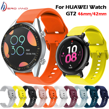Silicone Wrist Strap for Huawei Watch GT 2 46MM/GT2 Active 46m Smart Watch Band for Huawei Watch GT2 42MM band Bracelet Correa metal wrist strap for huawei watch gt 2 46mm 42mm gt active band bracelet for honor magic replaceable accessories watchbands