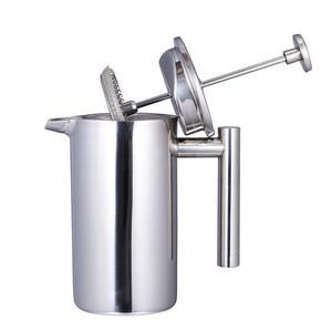 Image 2 - 350/800/1000ML Kaffee Töpfe Doppel Schicht Edelstahl Kaffee Und Tee Französisch Presse Wärme Erhaltung becher