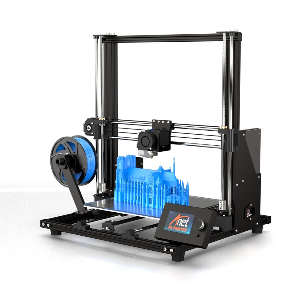 New Anet A8 Plus Upgrade 3D Printer Kit Plus Size 300*300*350mm High Precision Metal Desktop 3D Printer DIY Impresora 3D Printer