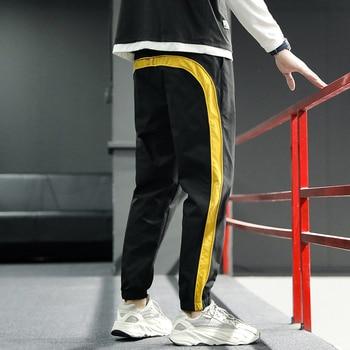 2020 New Hip Hop Joggers Cargo Pants Men Harem Pants Multi-Pocket Ribbons Man Sweatpants Streetwear Casual Mens Pants S-6XL - XXXL, 2003black yellow