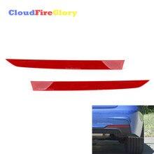 CloudFireGlory لسيارات BMW 335i 2012 2014 2 قطعة المصد الخلفي عاكس غطاء الشريط الجانب الأيسر الأيمن الأحمر 63147847165 63147847166