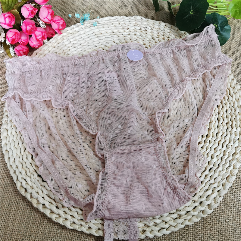 Bean paste pink underwear <font><b>women's</b></font> cotton crotch with bowknot <font><b>breathable</b></font> summer thin ladies <font><b>sexy</b></font> girl day wear briefs image
