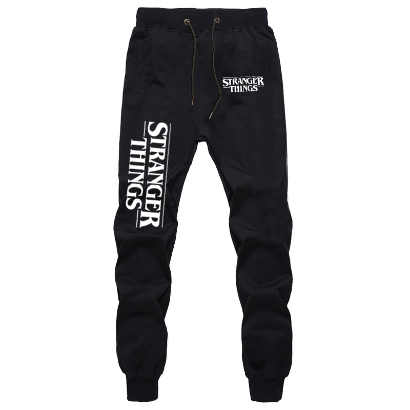 Stranger Things Sports Pants Autumn Winter Harajuku Full Length Pants Men's Casual Streetwear Sweatpants Boys Cotton Trousers