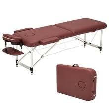 Складной красота кровать Профессиональный портативный спа массажные столы легкий складной с сумкой салон мебель алюминиевый сплав