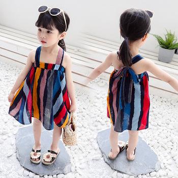 Aitono com 2020 nowa wiosna lato dziewczynek płaszcz pół rękawa bawełniana sukienka dziecięca bluzy dzieci princeska tanie i dobre opinie Pasuje prawda na wymiar weź swój normalny rozmiar COTTON ADDL007