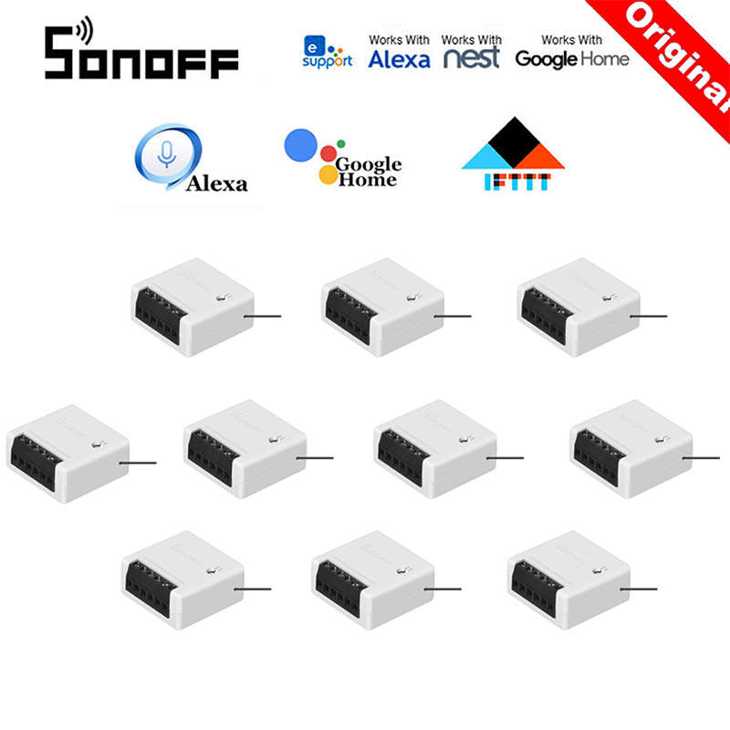 30 Pcs SONOFF MINI Wifi DIY Smart Switch Two Way Wiring Home Automation Modules Compatible With EWelink Alexa Amazon Google Home