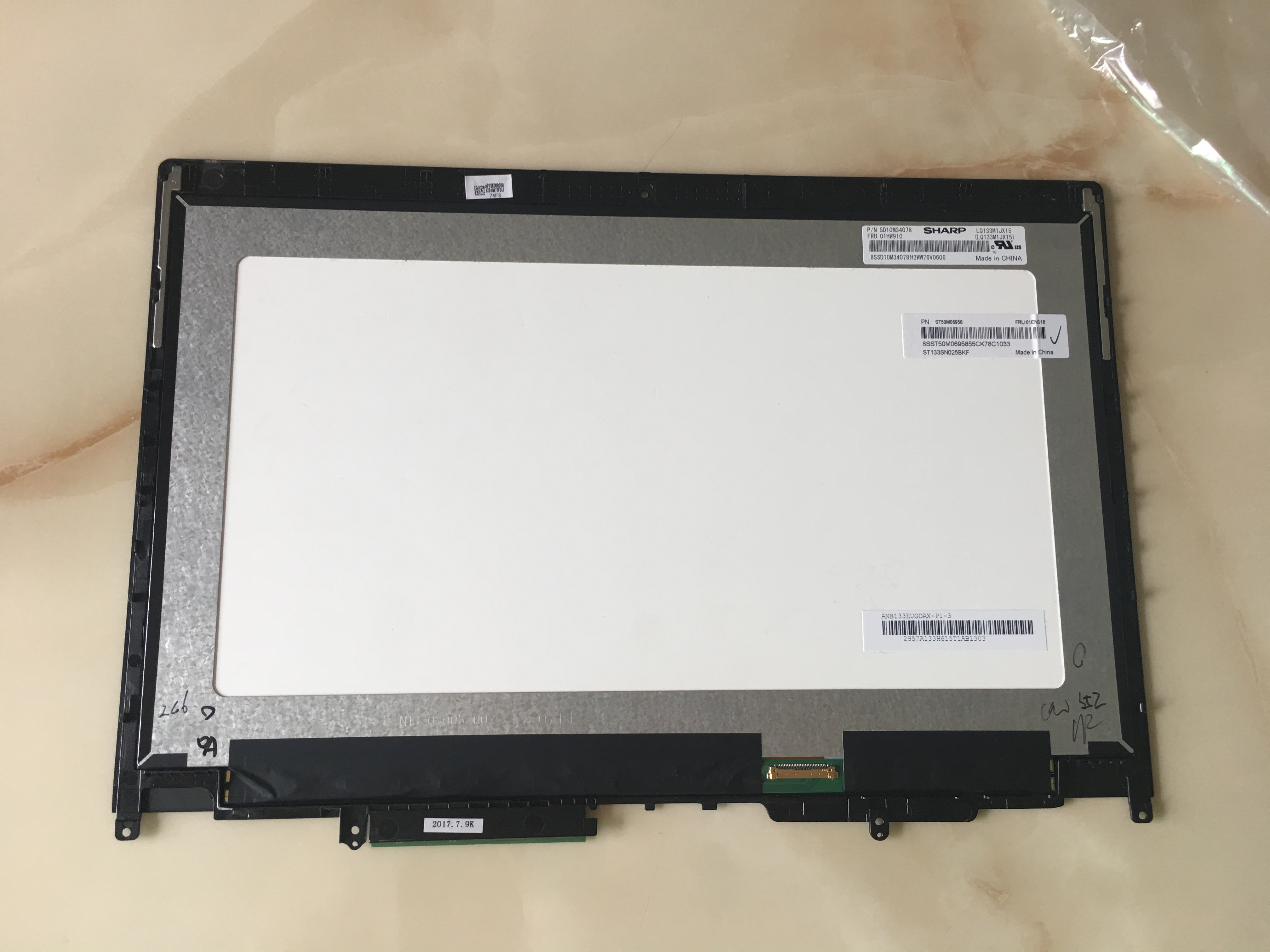 LP133WF4-SPA1/LQ133M1JX15 For Lenovo Thinkpad Yoga 370 13 LCD Screen+Touch Digitizer Assembly