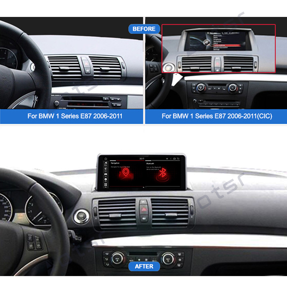 <font><b>Android</b></font> 9 Car DVD player GPS Navigation For <font><b>BMW</b></font> 1 Series E81/E82/E87/E88 2004-2011 Auto Radio stereo player multimedia headUnit image