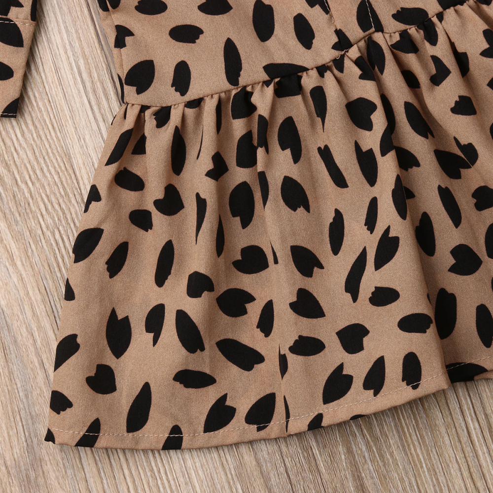 Leopard Collared Dress
