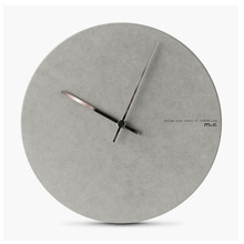 Chic Round Wall Clock Scandinavian Room Decor Mute Needle Clock Black Grey MDF Minimalist Board Hanging Clocks