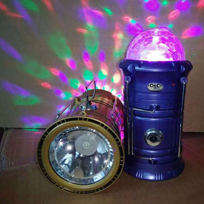 3-in-1 Portable Rechargeable Stage Light Flashlight Flame Effect Lamp Tent Lights SEC88