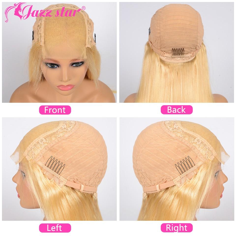 H43049bd40a0c4976829da13caaaf77498 Brazilian Wig 4x4 Lace Closure Wig 613 Blonde Wig Body Wave Human Hair Wigs for Black Women 150% Density Jazz Star Hair Non-Remy