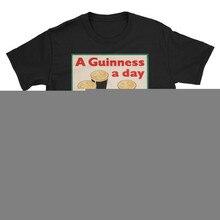 Un Guinness un día Vintage cerveza Ad Unisex Camiseta de algodón personalizar camiseta