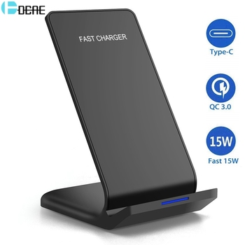 DCAE 15W Qi Wireless Charger for Samsung S10 S9 Note 10 9 10W Fast Charging Stand For iPhone 11 Pro XS XR X 8 USB C Quick Charge baseus 15w qi wireless charger stand qi fast charge phone stand multifunctional wireless charging pad for iphone 11 pro samsung