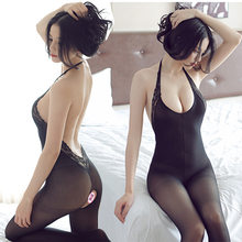 Sexy Nude Back Lace Stockings Sexy Stockings Fishnet Bodysuit Bodystocking Sexy Net Lingeries Sexy Push Up Lace Bodysuit(China)