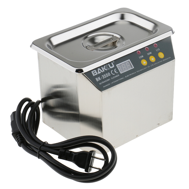 40KHz 35/50W Stainless Steel Jewelry Watch Glasses Eyeglass Digital Ultrasonic Cleaner Parts Heated Cleaning Machine Device