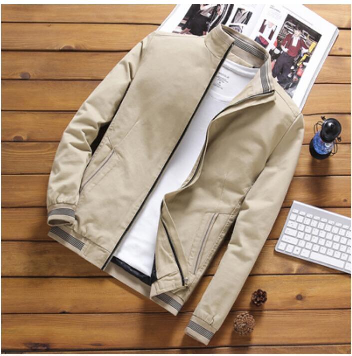 Hot 2020 Men's Jacket Casual Male Outwear Windbreaker Stand Collar Jacket Mens Baseball Slim Coats