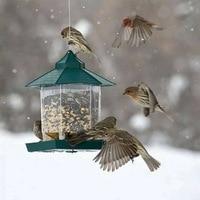 Bird Feeder Plastic Hanging Bird Food Container Outdoor Waterproof Bird Feeder Pet Supplies Garden Decoration