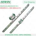 HIWIN Нержавеющаясталь 12 мм MGN12 рейка L = 200 250 300 350 400 450 500 600 мм линейные направляющие с MGN12C или MGN12H каретки