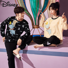 Disney Dumbo couple pajamas women spring and autumn 100% cotton long-sleeved men and women casual cartoon home clothes