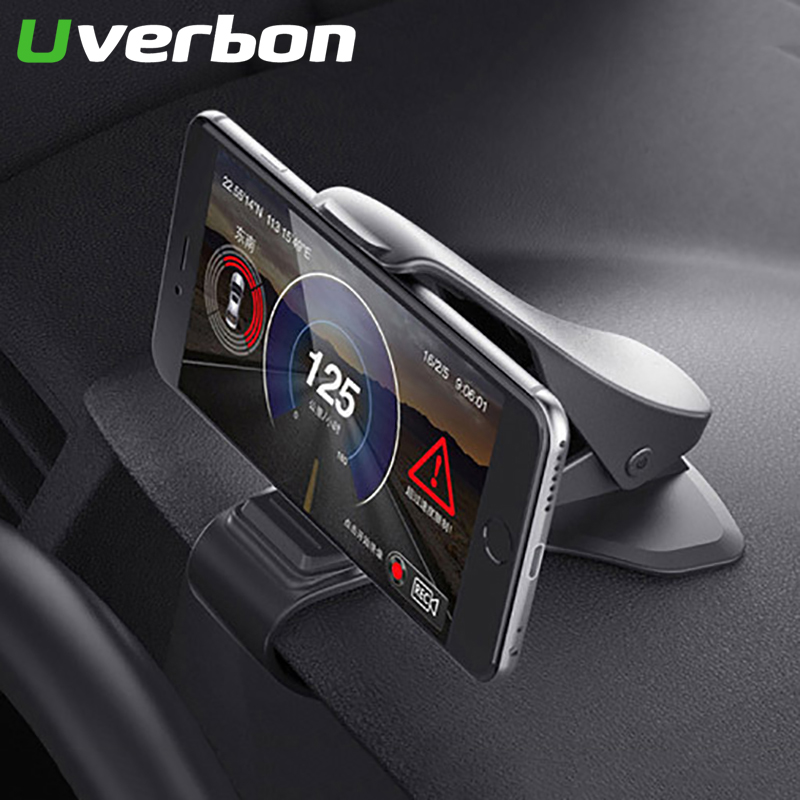 Universal Car Phone Holder Mount Stand Holder Dashboard Mount Cradle For Cell Phone In Car GPS Display For Iphone X XS Samsung