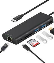USB 3.0 HUB Type C To HDTV 4K Card Reader Video Converter 1000Mbps Gigabit Ethernet Lan Video Adapter for MacBook Laptop Monitor