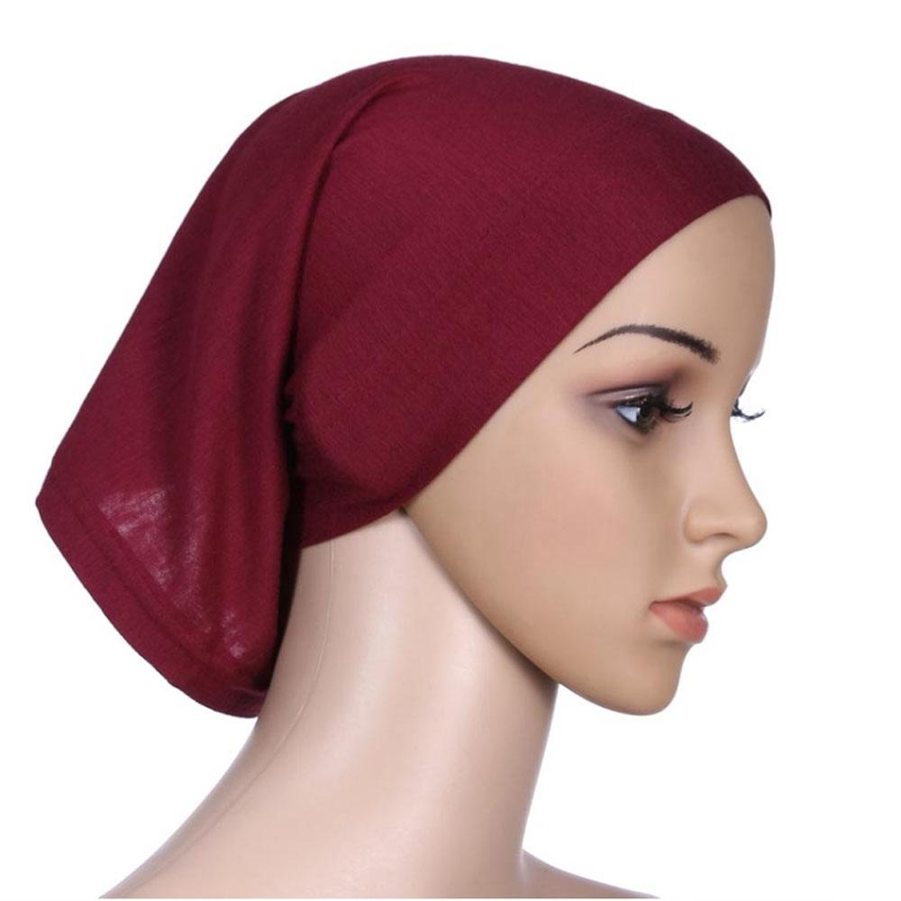 Мусульманский женский шарф Национальный Рамадан аксессуары для волос тюрбан декоративная хлопковая шапка шапочки под хиджаб Мода Защита от солнца пляж - Цвет: Brown
