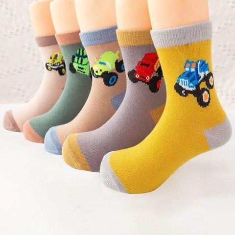 5 pares set novo outono inverno criancas meias carro dos desenhos animados blaze bebe meninos