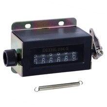 0-999999 contador mecânico reinicializável da contagem de tração de 6 dígitos D94-S