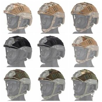 цена на Tactical Military Combat Helmet Cover Airsoft Hunting Helmet Cloth CS Wargame Sport Helmet Cover For Ops-Core PJ/BJ/MH Type Fast