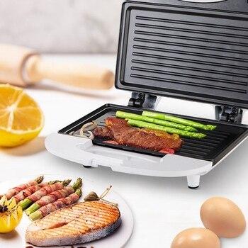 Electric Mini Sandwich Maker Grill Panini Breakfast Machine Barbecue Steak Frying Oven US Plug цена 2017