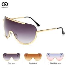 GOZLUGU Sunglasses women 2019 Women Oversize Mask Shape Shield
