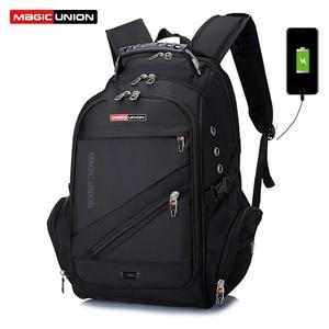 Image 1 - MAGIC UNION Brand Design Mens Travel Bag Man Swiss Backpack Polyester Bags Waterproof Anti Theft Backpack Laptop Backpacks Men